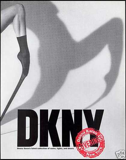 DKNY Donna Karan Fashion Socks Leg Photo (1990)