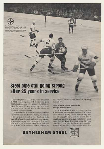 Washington Patriots Hockey Coliseum Beth Steel (1967)