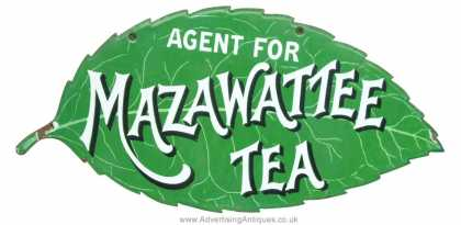 Mazawattee Tea Leaf Sign