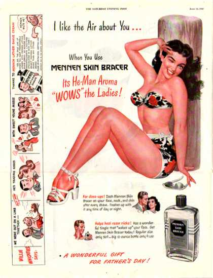 Mennen Skin Bracer – WOW the Ladies (1947)