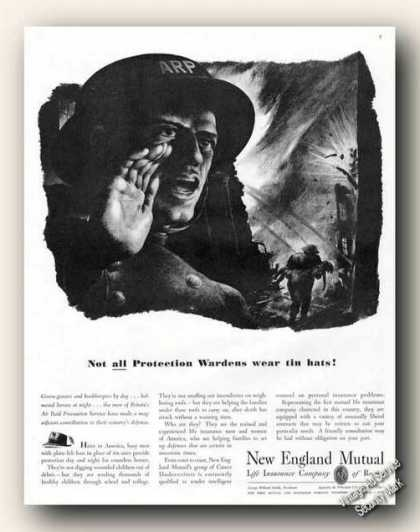 New England Mutual British Air Raid Advertising (1941)