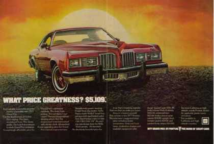 Pontiac Grand Prix Car – Priced at $5,109 in (1977)