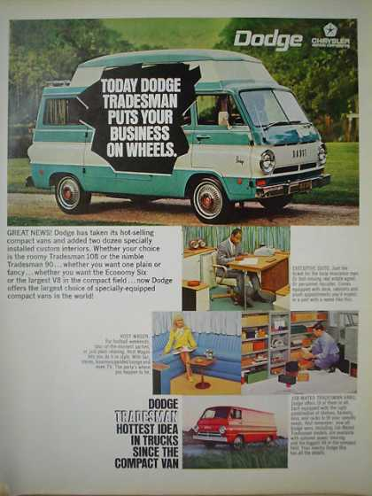 Dodge Tradesman Van Puts your business on wheels (1968)
