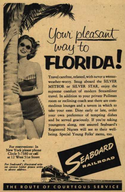 Seaboard Railroad's Florida – Your pleasant way to Florida (1954)