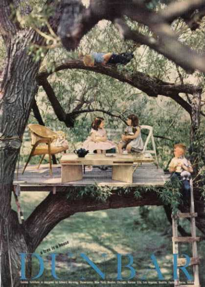 Dunbar Furniture Ad Fashion Chair Table Treehouse (1955)