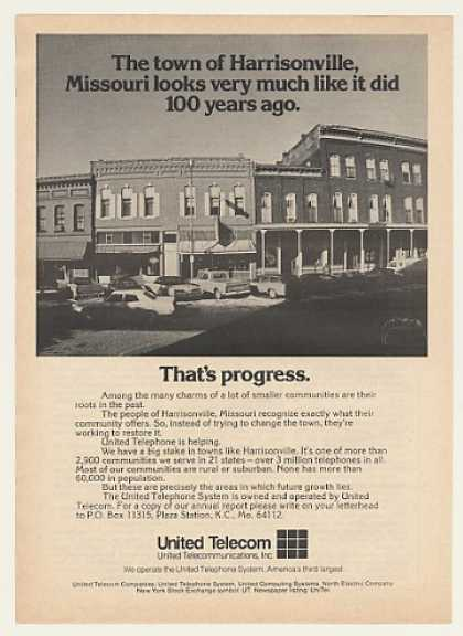 Harrisonville Missouri United Telecom Photo (1975)