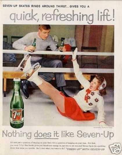 Seven-up Ad Girl Ice Skating (1959)