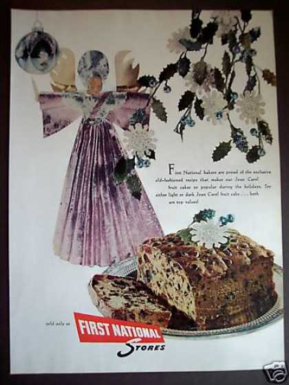 Joan Carol Fruit Cakes First National Stores (1955)