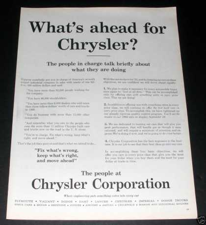 What's Ahead for Chrysler, Exc (1961)