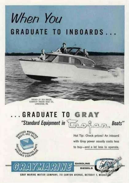 Trojan 25 Sea Breeze Boat Photo Graymarine (1956)