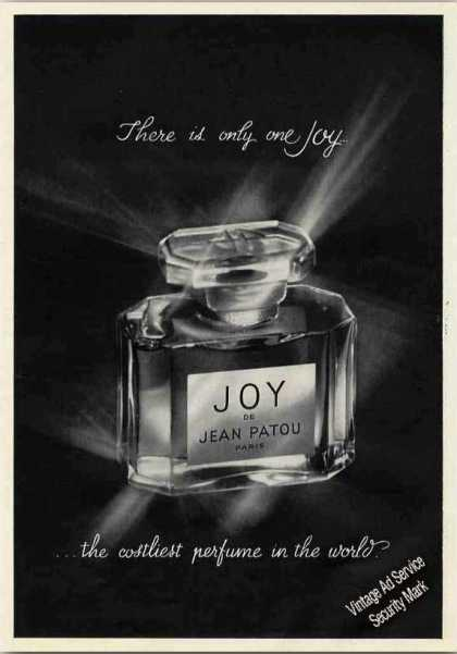 "Joy De Jean Patou ""Costliest Perfume In World"" (1962)"