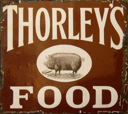 Thorley's Food Enamel Sign