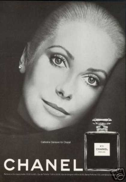 Catherine Deneuve Photo Chanel No 5 Perfume (1974)