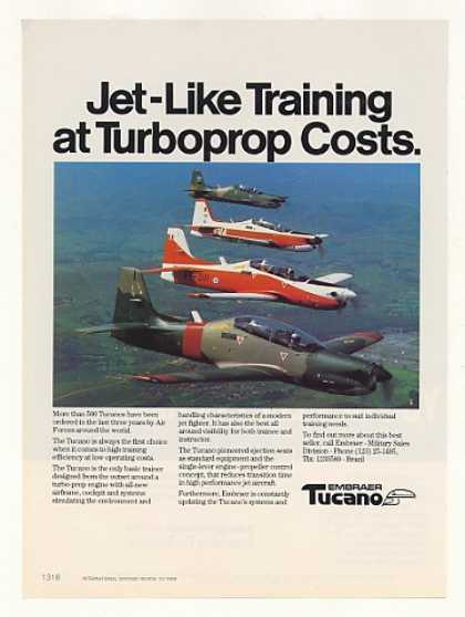 Embraer Tucano Turboprop Military Trainer Photo (1989)