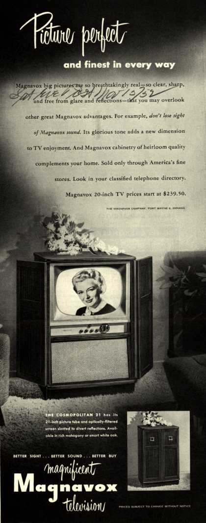 Magnavox Company's Television – Picture perfect and finest in every way (1952)