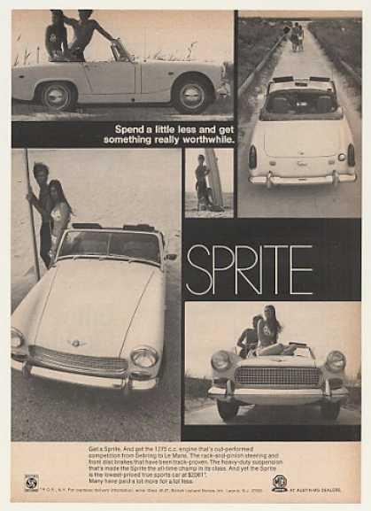Austin-Healey Sprite Sports Car Spend Less (1969)