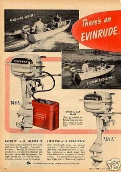 Evinrude Outboard Motors Ad 2 Page (1950)