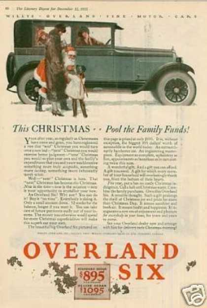 "Willys-overland Six Color Ad ""This Christmas... (1925)"