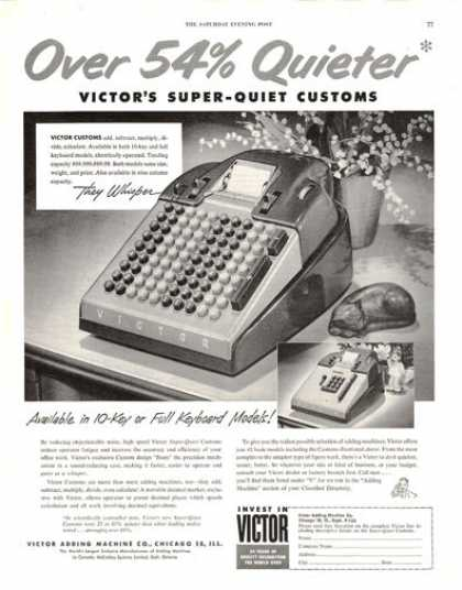 Victor Adding Machine Full Keyboard Custom's (1953)