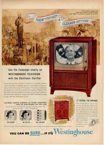 Westinghouse Tv Andrew Jackson 720k21 Ad T (1952)