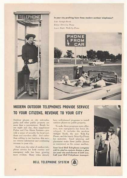 Bell Outdoor Telephones Booth Drive-Up Walk-Up (1960)