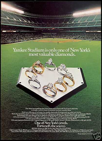 NY Yankees Baseball Stadium Fortunoff Diamonds (1985)