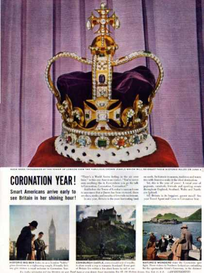 British Travel Coronation Crown Jewels (1952)