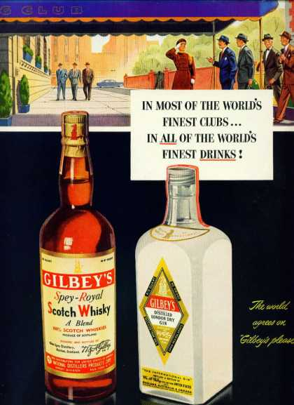 Gilbey's Spey Royal Scotch Whisky & Gilbey's Gin