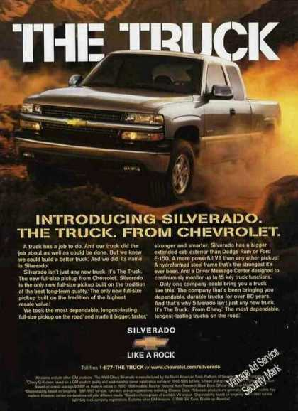 Introducing Silverado the Truck. From Chevrolet (1999)