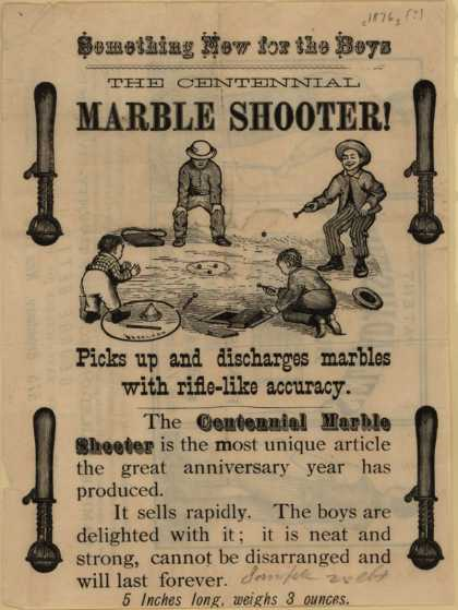 George Bett's Centennial Marble Shooter – Something New for the Boys