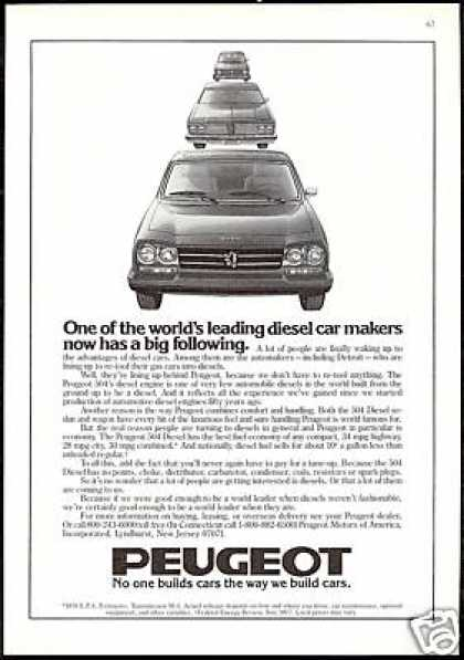 Peugeot 504 Diesel Automakers Re-Tool Gas Cars (1978)