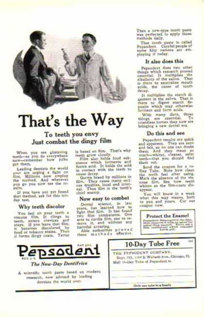 Pepsodent Toothpaste – The New Day Dentifrice (1924)