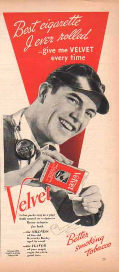Velvet Smoking Tobacco – Liggett & Myers Company (1939)