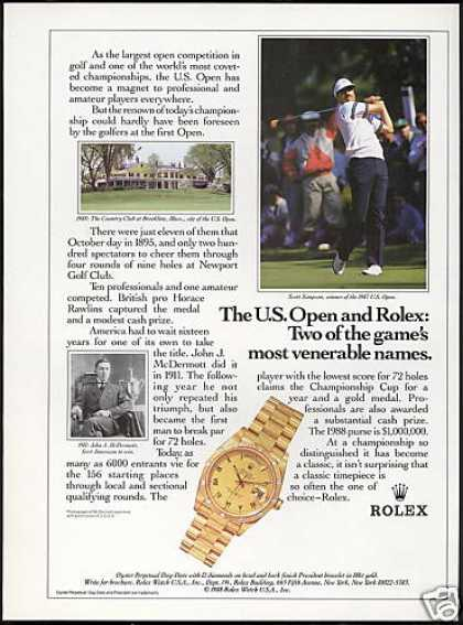 Scott Simpson Golf US Open Rolex Watch (1988)