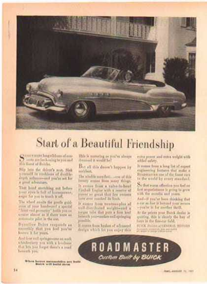 Buick Roadmaster Car – Convertible (1952)