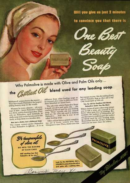 Palmolive Company's Palmolive Soap – One Best Beauty Soap (1941)