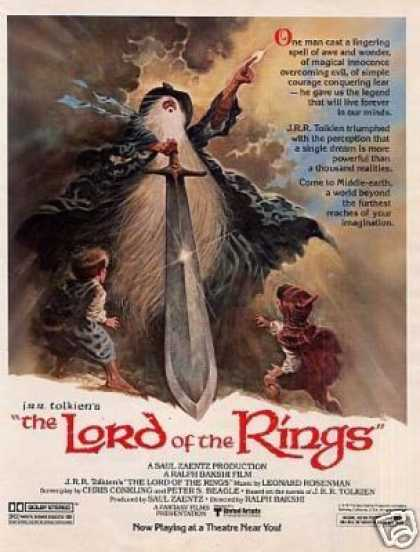 "Movie Ad ""Lord of the Rings"" (1979)"