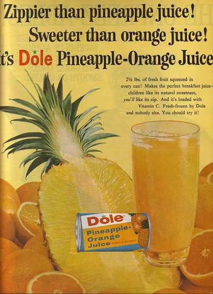 Dole's Pineapple-Orange Juice (1962)