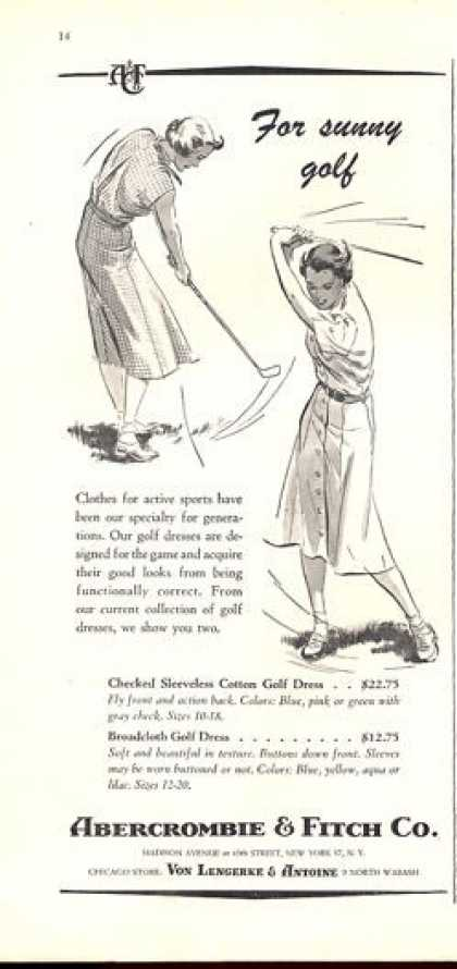 Abercrombie & Fitch Women Golf (1952)