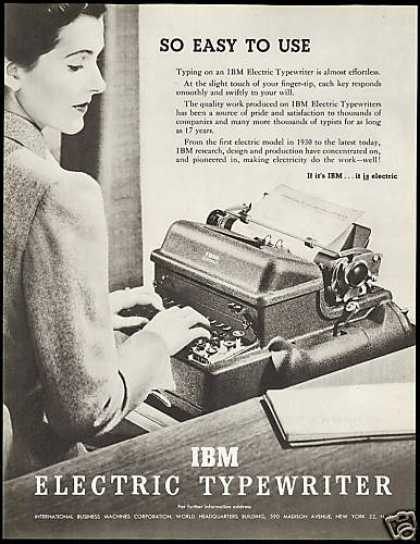 IBM Electric Typewriter Easy to Use (1948)