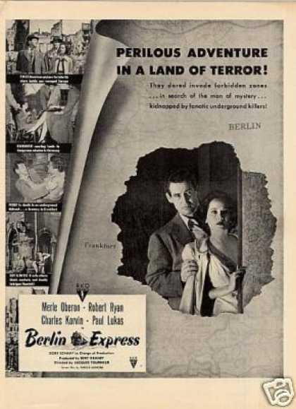 "Movie Ad ""Berlin Express"" Merle Oberon (1948)"