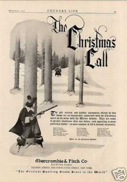 "Abercrombie & Fitch Co. Ad ""The Christmas Call... (1920)"