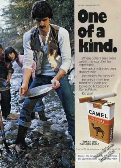 Camel Filters Panning In Stream Girls (1976)