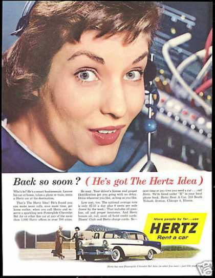 Chevrolet Bel Air Hertz Rent A Car (1956)