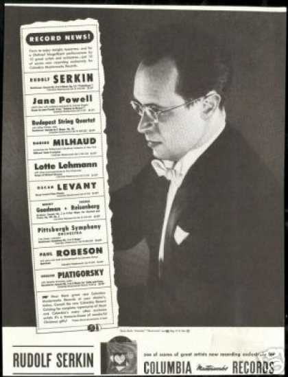 Rudolf Serkin Photo Vintage Record (1946)