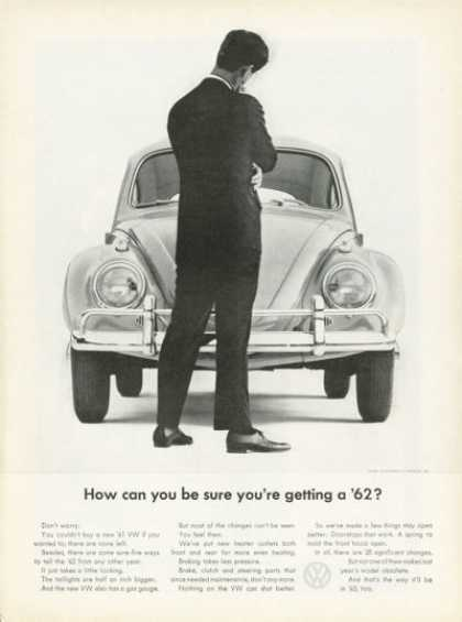 Vw Volkswagen Front View Ad How Can You Tell...? (1962)