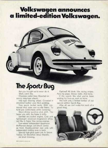 "Vw Volkswagen Limited Edition ""The Sports Bug"" (1973)"