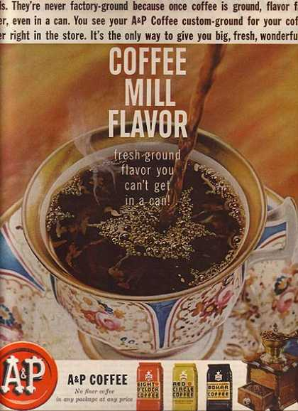 A & P's Three different blends of coffee (1962)