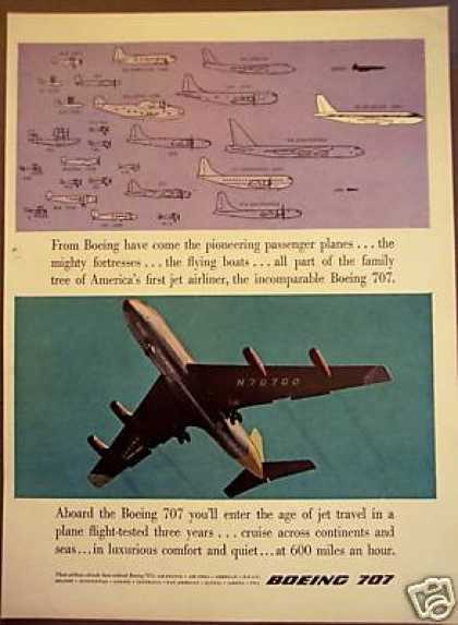 Boeing 707 Jet Airliner and Family of Planes (1957)