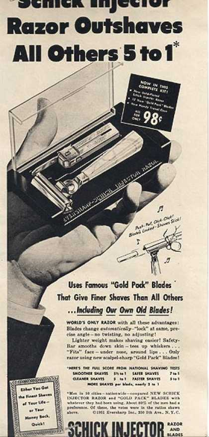 Schick's Injector Razor and Blades (1952)